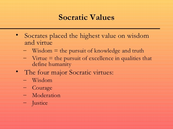 socrates and virtue essay example Meno first suggests that different kinds of virtue exist for different kinds of people socrates replies that meno's definition is like a swarm of bees: each kind of virtue, like each bee, is different, but socrates is interested in that quality they all share.
