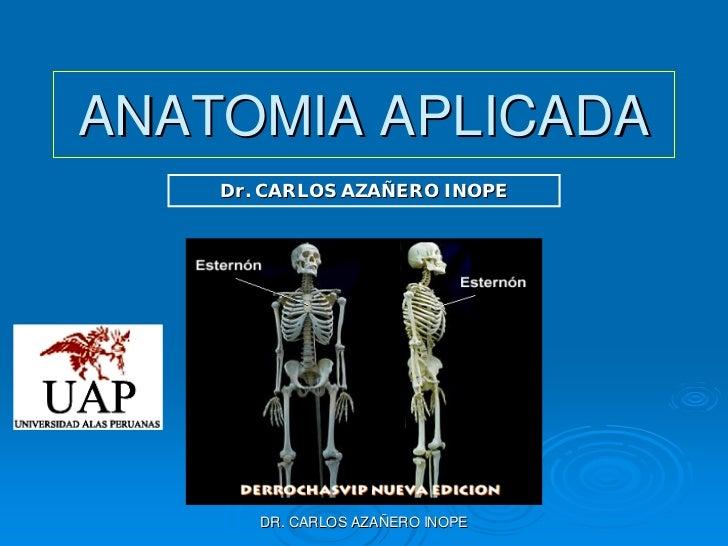 ANATOMIA APLICADA     Dr. CARLOS AZAÑERO INOPE            DR. CARLOS AZAÑERO INOPE