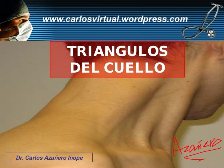 TRIANGULOS                   DEL CUELLO     Dr. Carlos Azañero Inope   Dr. Carlos Azañero Inope
