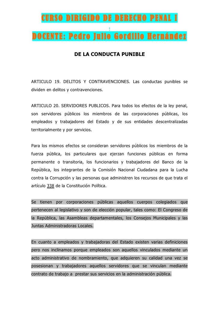 CURSO DIRIGIDO DE DERECHO PENAL I                                             ..                                          ...