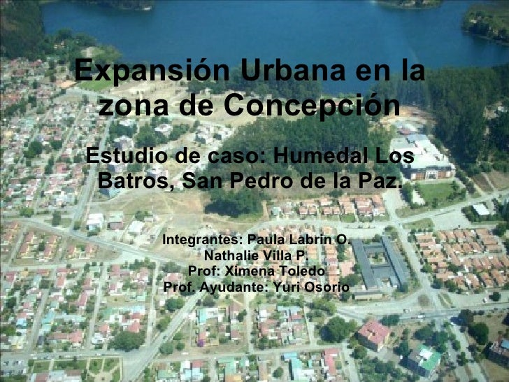 Expansión Urbana en la zona de Concepción Estudio de caso: Humedal Los Batros, San Pedro de la Paz. Integrantes: Paula Lab...