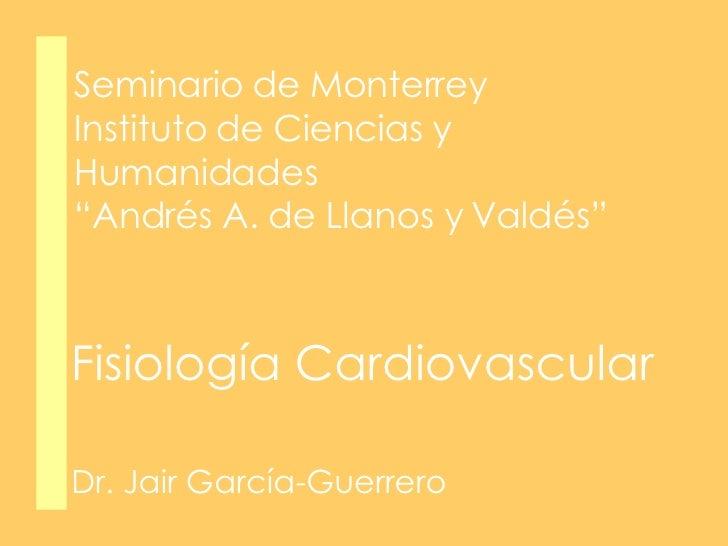 Fisiología Cardiovascular para alumnos de Bachillerato