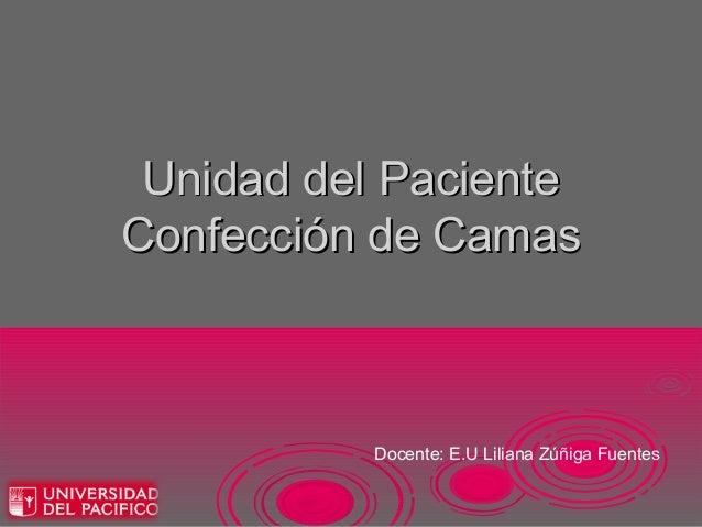 Unidad del PacienteConfección de Camas          Docente: E.U Liliana Zúñiga Fuentes