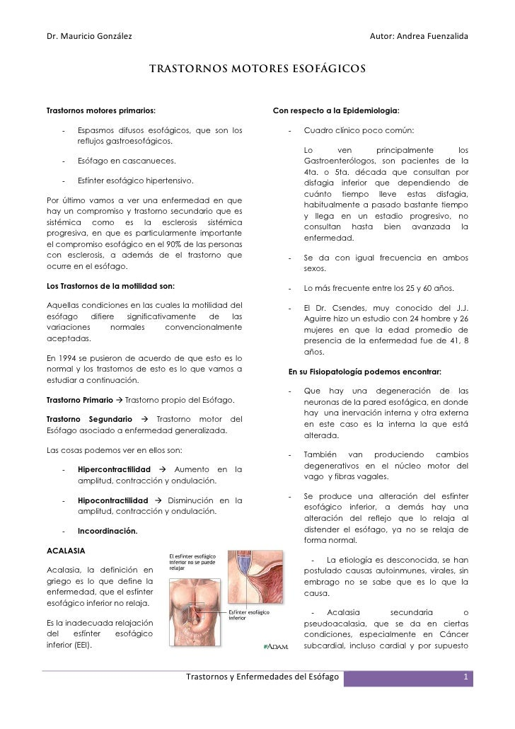 Clase 04   trastornos esofágicos
