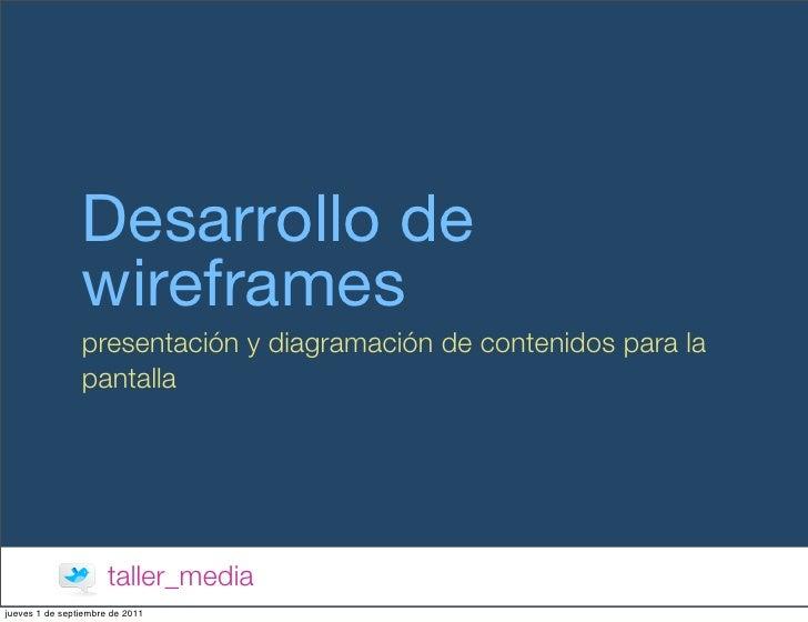 Wireframes y diseño web