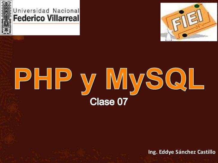 PHP MySql - FIEI - UNFV Clase07