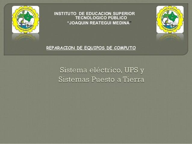 sistema electrico,ups