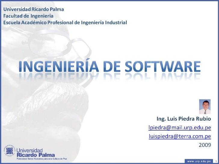 Sesion 1 - Ingenieria de Software