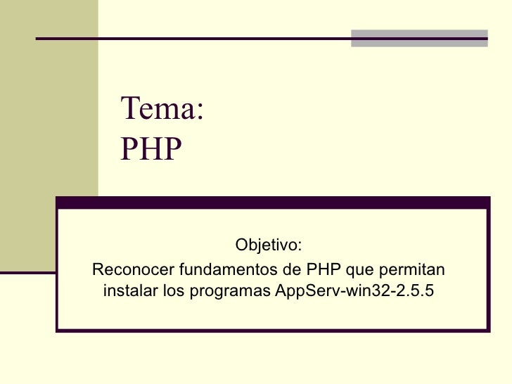 Clase1:PHP
