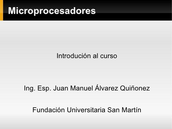 presentacion curso microprocesadores