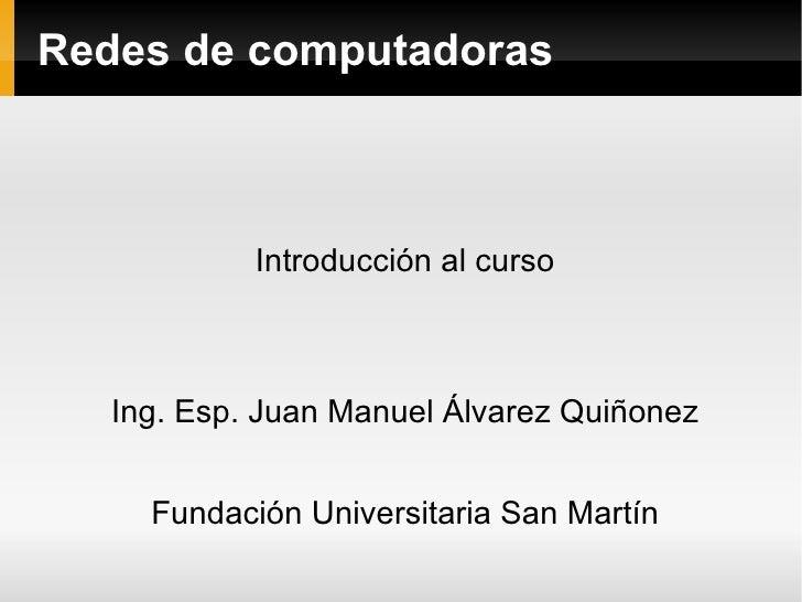 Presentación redes ago dic 2010 FUSM