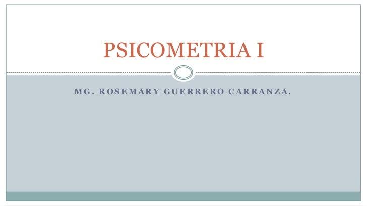 PSICOMETRIA I