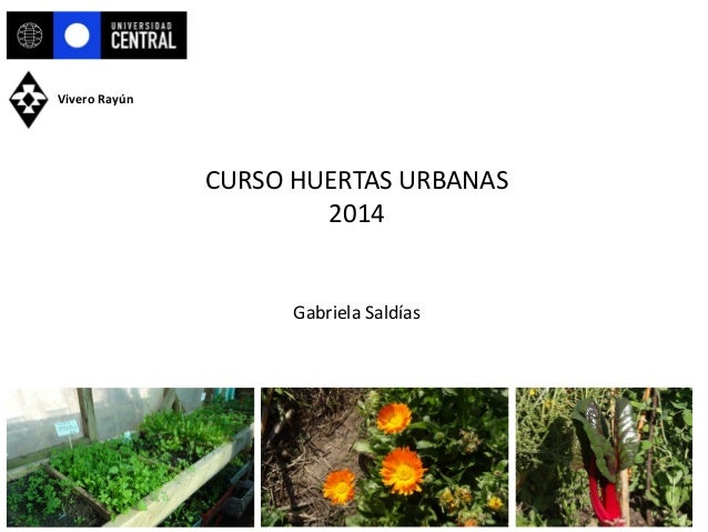 CURSO HUERTAS URBANAS 2014 Gabriela Saldías Vivero Rayún