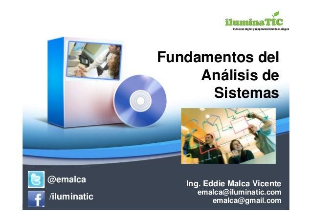 Clase 1   analisis y diseño de sistemas