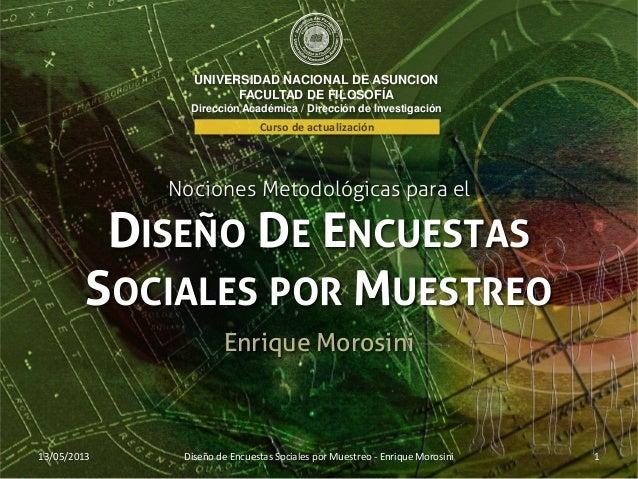 UNIVERSIDAD NACIONAL DE ASUNCIONFACULTAD DE FILOSOFÍADirección Académica / Dirección de InvestigaciónNociones Metodológica...