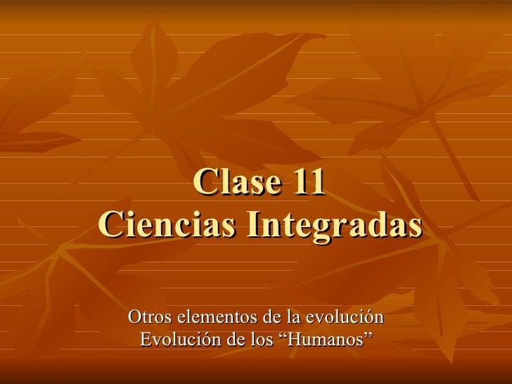 Clase 11 cs. int. i   evolucion de especies humanas