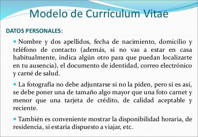 Modelo De Curriculum Vitae Uruguay Modelo De Curriculum Vitae