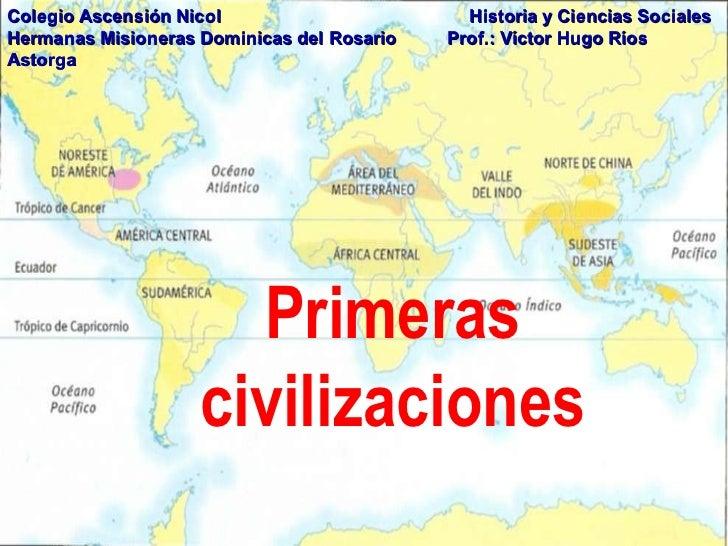 las primeras civilizaciones antiguas: