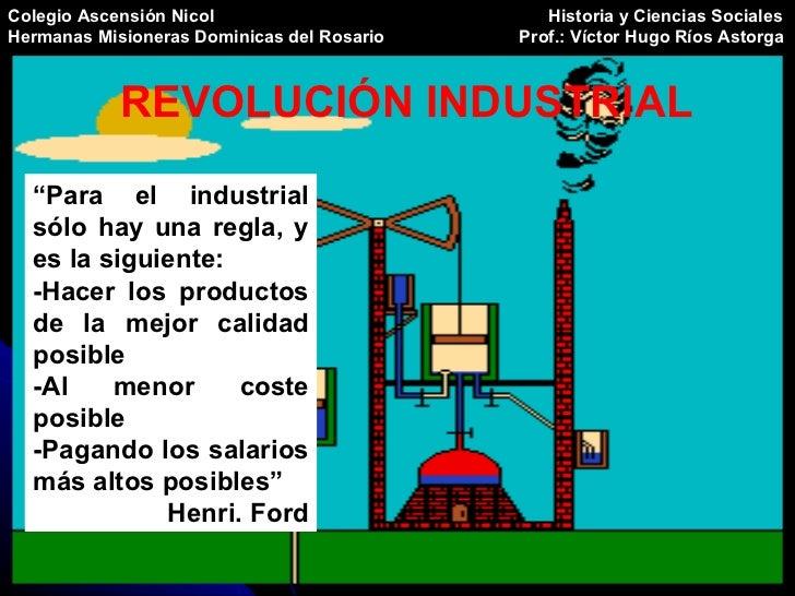 Colegio Ascensión Nicol   Historia y Ciencias Sociales Hermanas Misioneras Dominicas del Rosario   Prof.: Víctor Hugo Ríos...