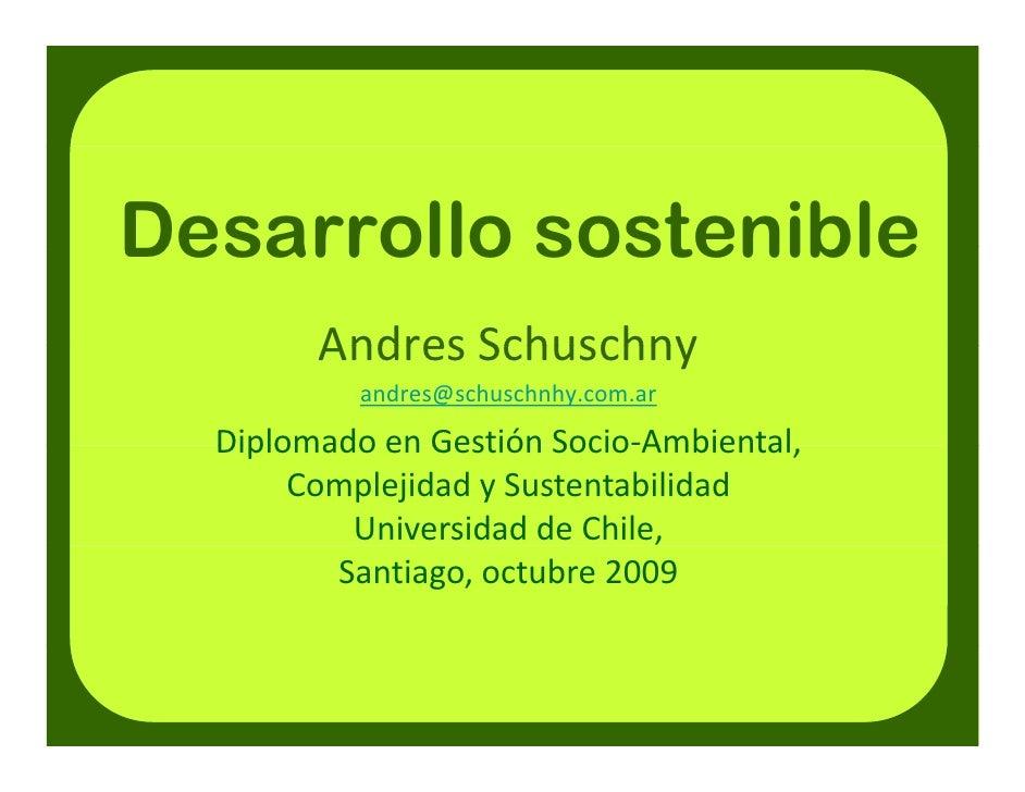Clase 2(a) Desarrollo Sostenible