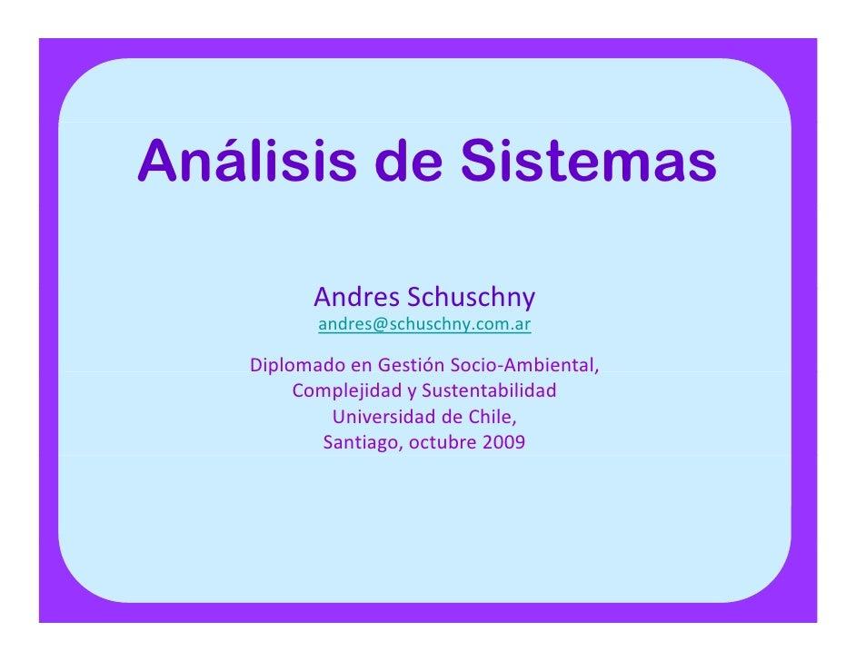 Análisis de Sistemas             AndresSchuschny            A d S h h             andres@schuschny.com.ar     Diplomadoe...