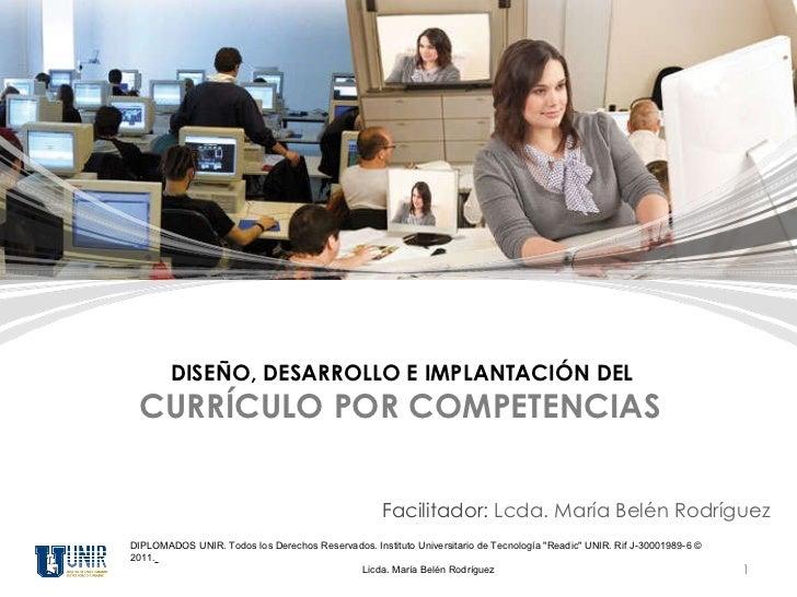 """DIPLOMADOS UNIR. Todos los Derechos Reservados. Instituto Universitario de Tecnología """"Readic"""" UNIR. Rif J-30001..."""