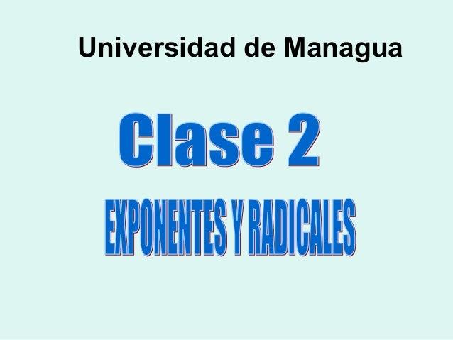 Clase 2,  exponentes y_radicales