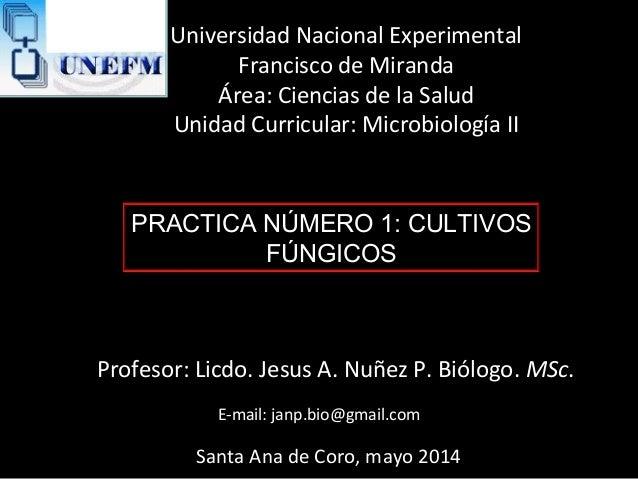 Universidad Nacional Experimental Francisco de Miranda Área: Ciencias de la Salud Unidad Curricular: Microbiología II Prof...
