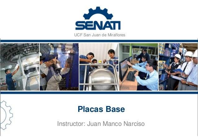 UCF San Juan de Miraflores  Placas Base  Instructor: Juan Manco Narciso