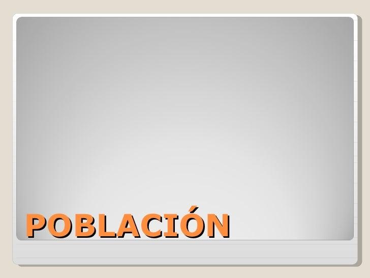 Clase2 Poblacion