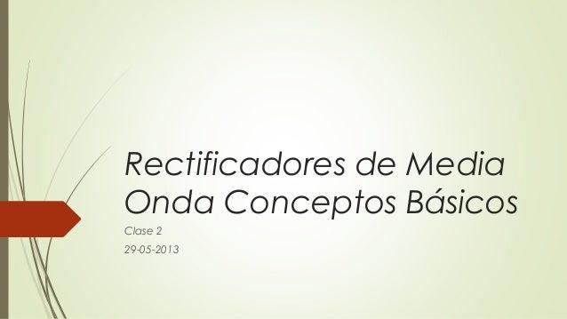 Rectificadores de MediaOnda Conceptos BásicosClase 229-05-2013