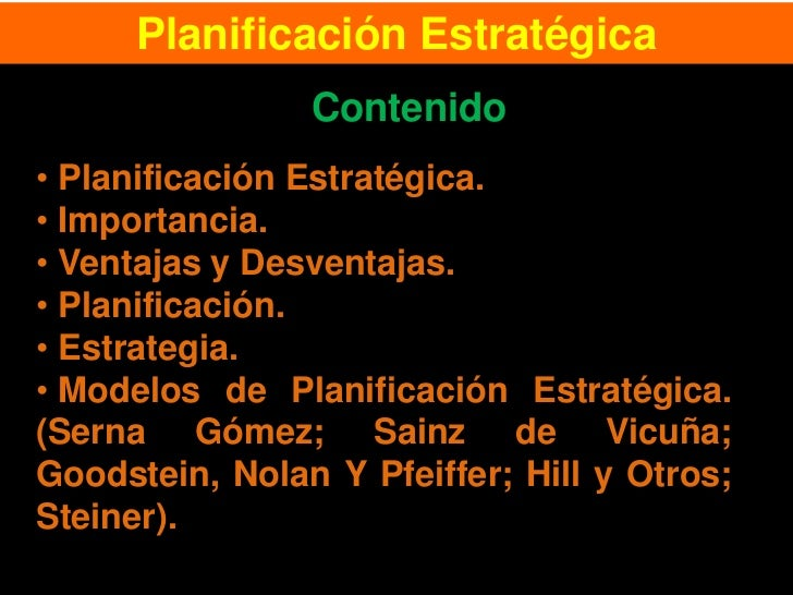 Clase 3.  planificación estrategica.