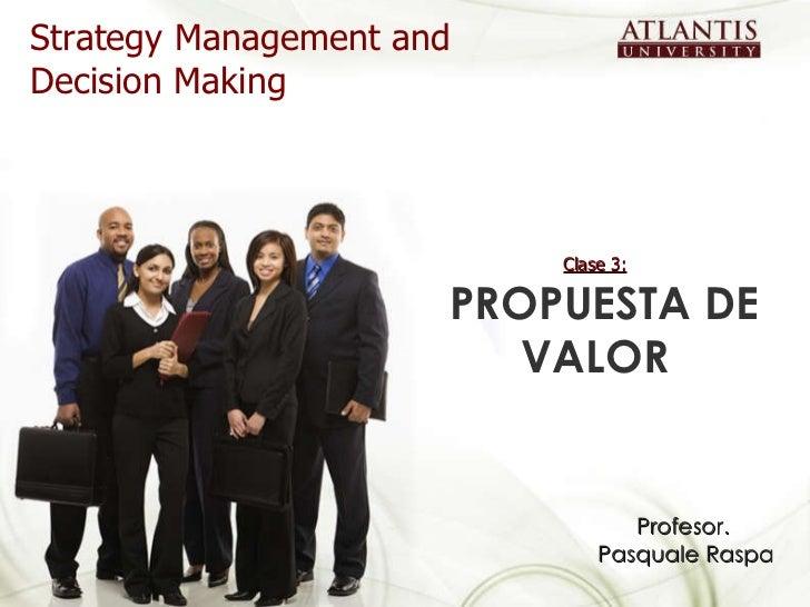 Clase 3 propuesta de valor