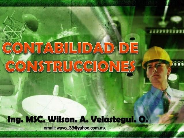 CONTABILIDADES DE CONSTRUCCIONES CUATRO