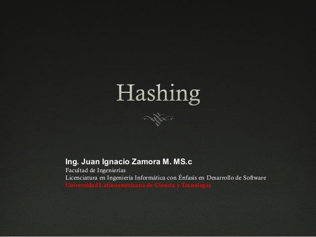 Ing. Juan Ignacio Zamora M. MS.c Facultad de Ingenierías Licenciatura en Ingeniería Informática con Énfasis en Desarrollo ...