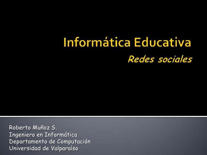 Informática Educativa, Redes sociales