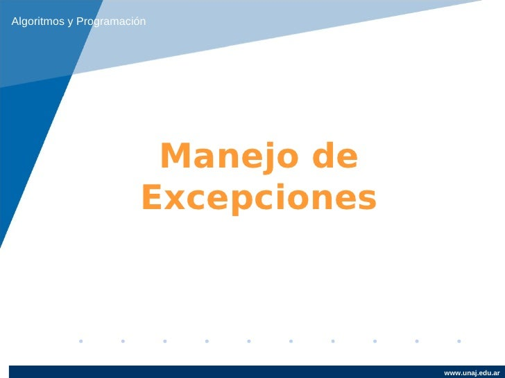 Clase 6   excepciones