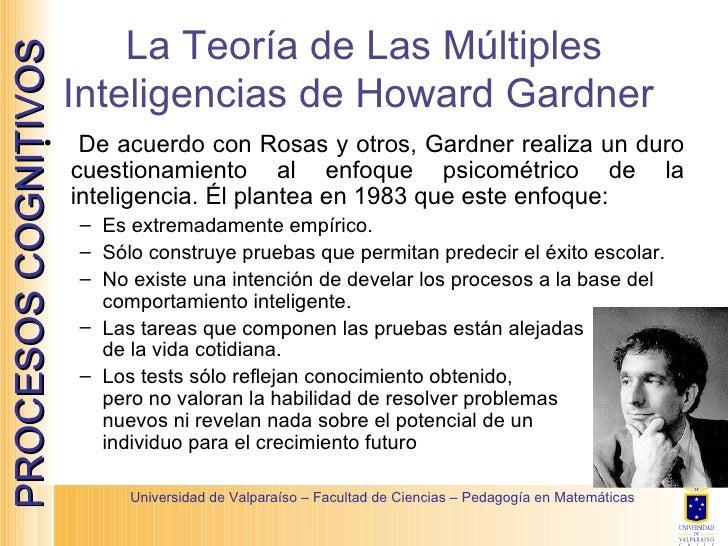 La Teoría de Las Múltiples Inteligencias de Howard Gardner  <ul><li>De acuerdo con Rosas y otros, Gardner realiza un duro ...