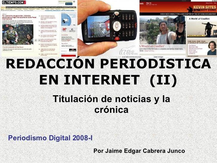 Redacción periodística en Internet