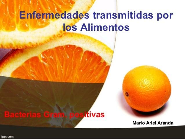 Enfermedades transmitidas porlos AlimentosBacterias Gram. positivasMario Ariel Aranda