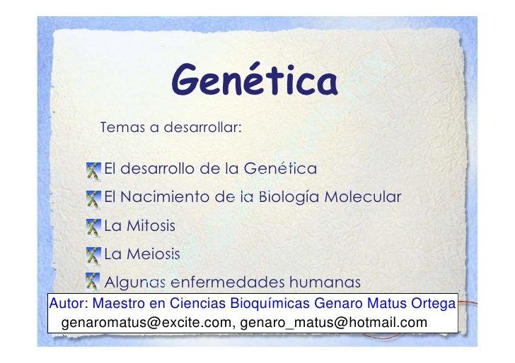 Clase 9 La genética y la Biología Molecular