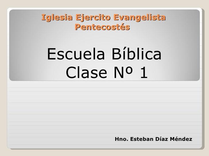 Clase biblica La Unicidad de dios