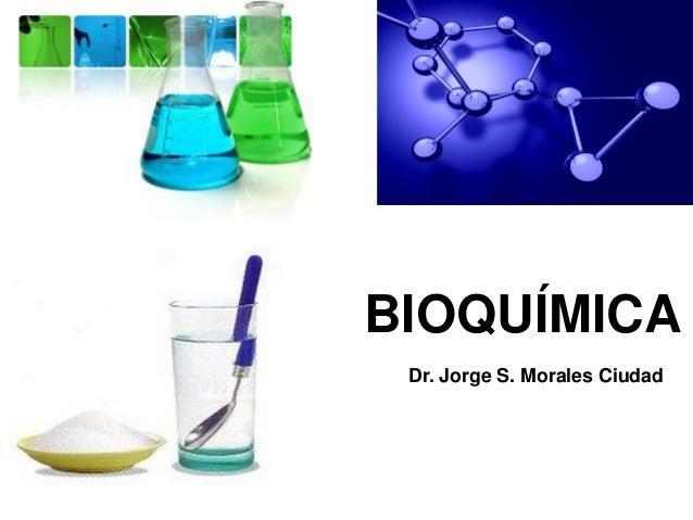 BIOQUÍMICA Dr. Jorge S. Morales Ciudad
