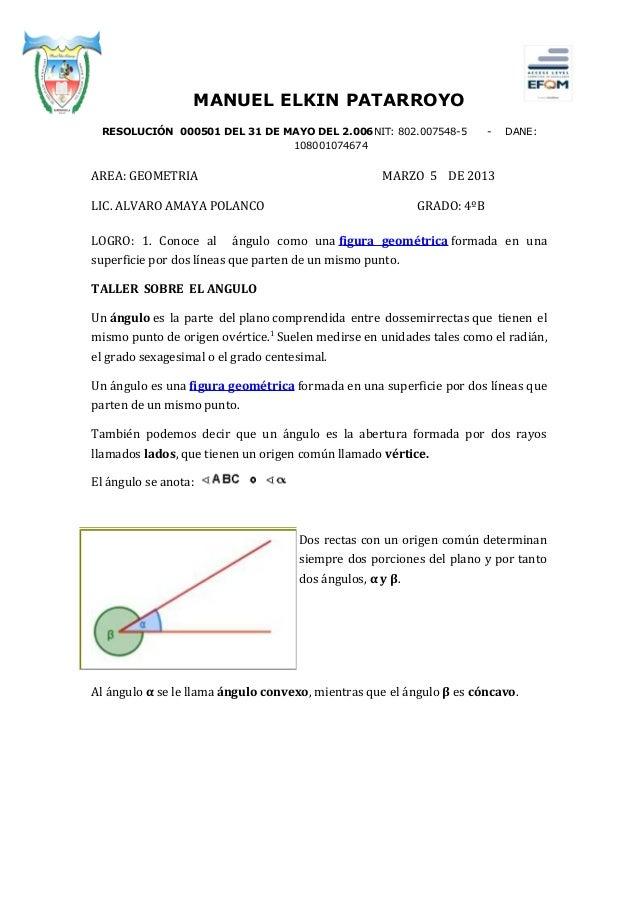 MANUEL ELKIN PATARROYO RESOLUCIÓN 000501 DEL 31 DE MAYO DEL 2.006NIT: 802.007548-5            -   DANE:                   ...