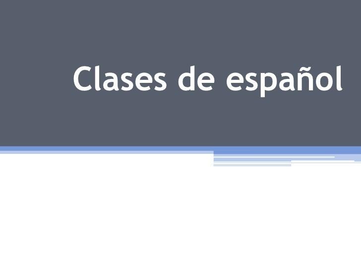Clases de español<br />
