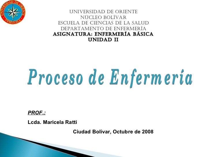 UNIVERSIDAD DE ORIENTE                  NÚCLEO BOLÍVAR           ESCUELA DE CIENCIAS DE LA SALUD            DEPARTAMENTO D...