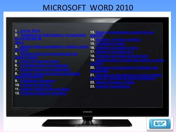 Clase de Word 2010 capacitación