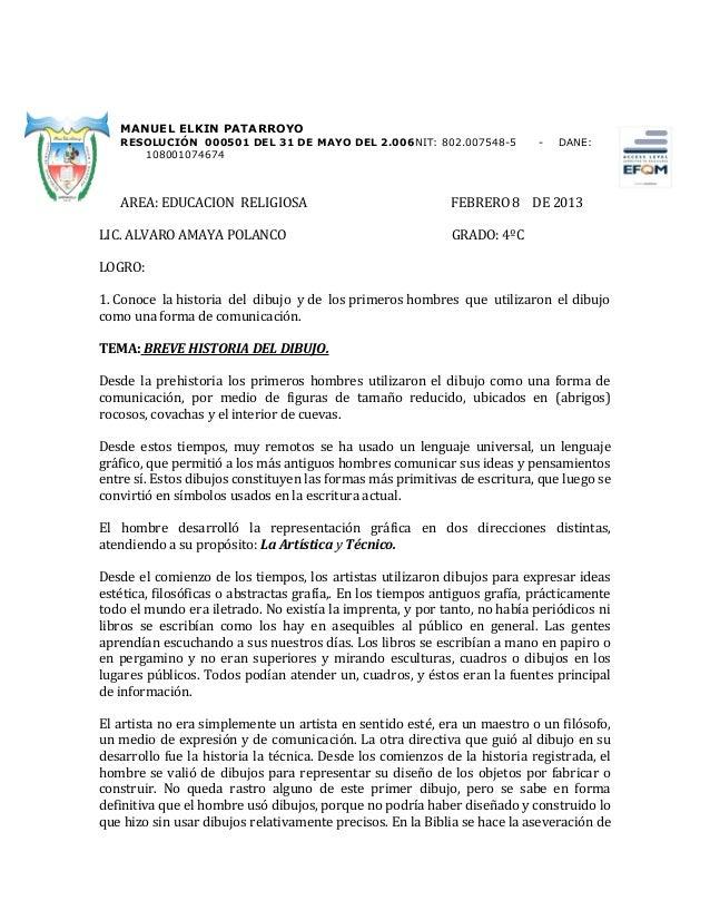MANUEL ELKIN PATARROYO   RESOLUCIÓN 000501 DEL 31 DE MAYO DEL 2.006NIT: 802.007548-5              -   DANE:      108001074...
