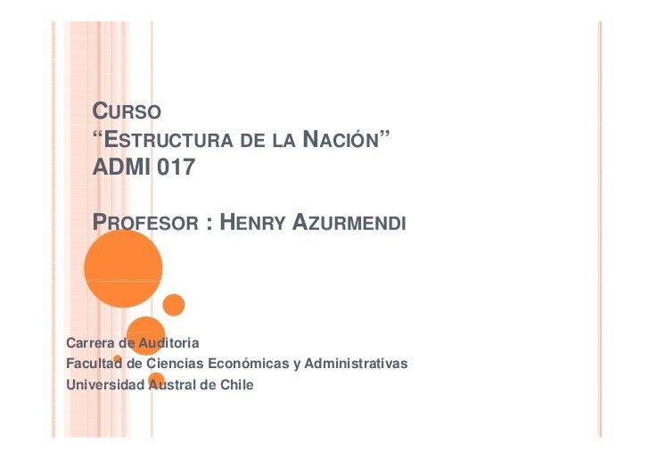 Clase estructura de la nacion  2010