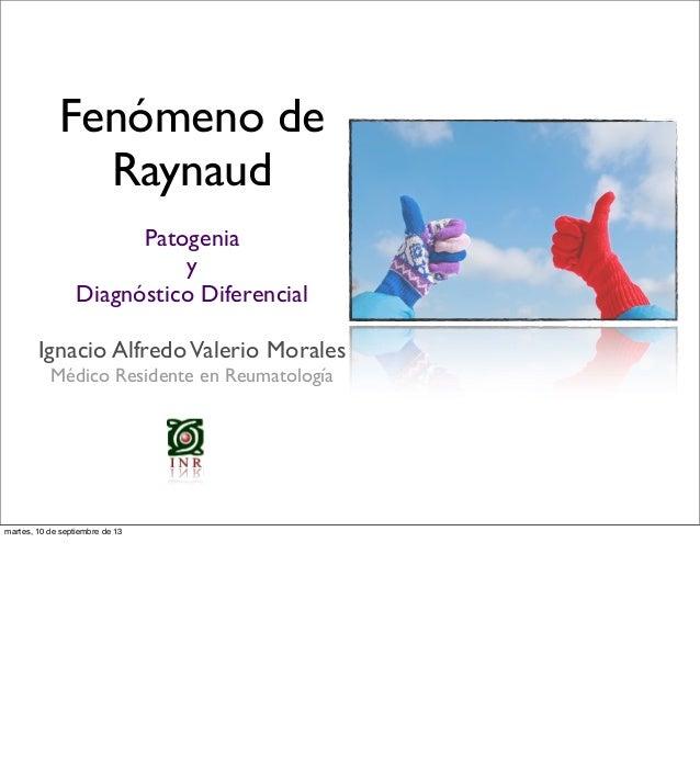 Clase fenómeno de raynaud iavm 2013